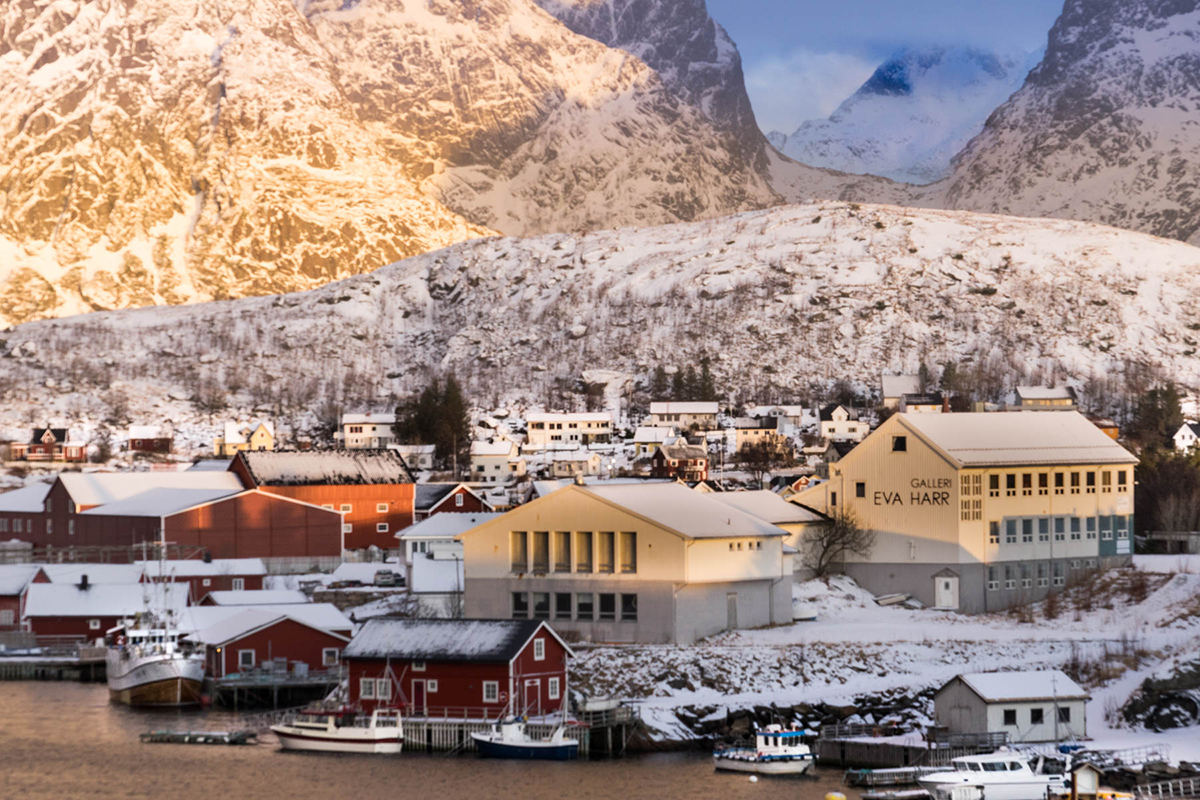 Fishing Village by Irene Berger Norway