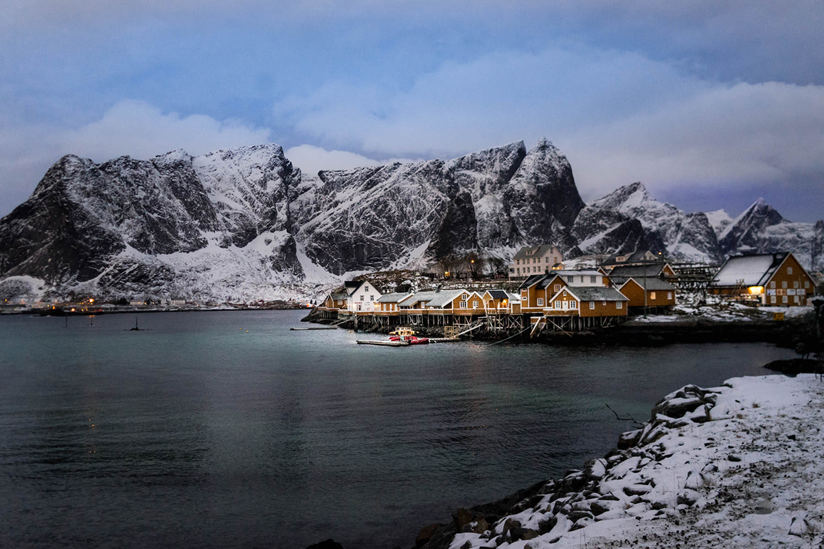 Reine Fishing Village Norway by Irene Berger