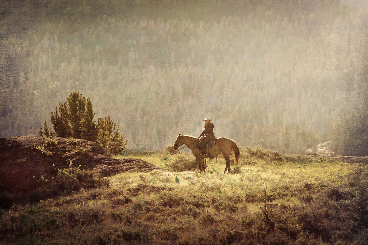 Cowgirl Cody Wyoming by Jim Berger