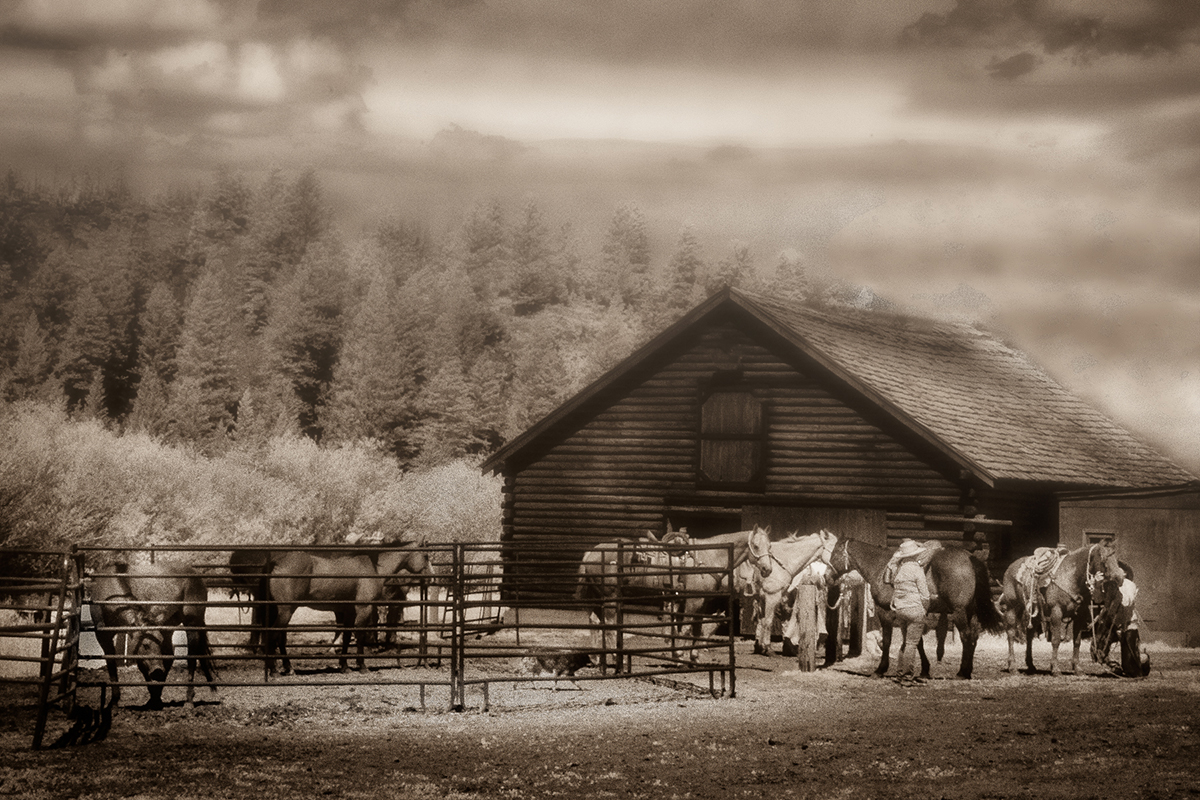 The Horse Ranch in Cody Wyoming by Jim Berger