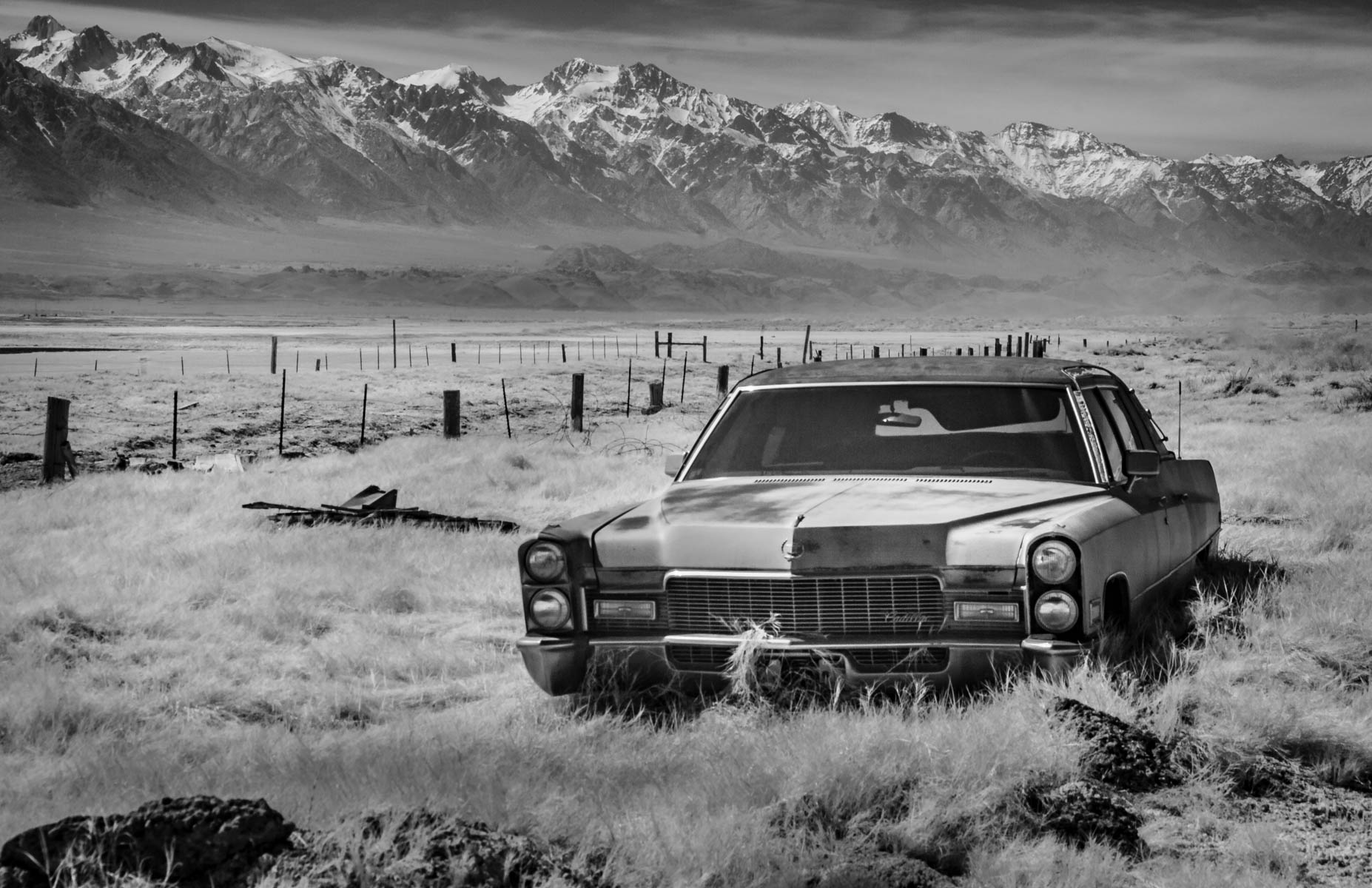 Death Valley ~ The Old Car Died by Jim Berger